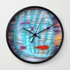 Plaid Head Wall Clock