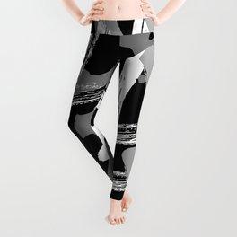 mock graffiti_black white gray Leggings