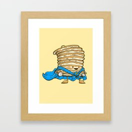Captain Pancake Framed Art Print