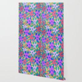 Tropical Rain Flowers Wallpaper