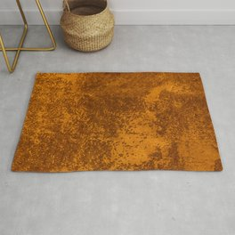 Abstract rustic gold paper Rug