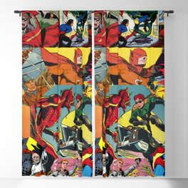 Comic Book Collage Blackout Curtain