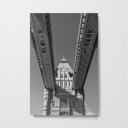 Tower Bridge, London, From Below Metal Print