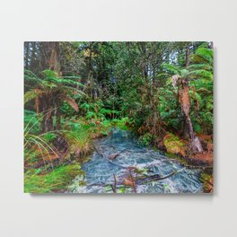 Blue Water Forest Metal Print