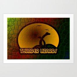 Thunder Lizards Art Print