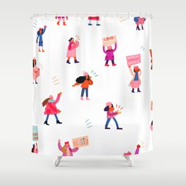 Marching Together Shower Curtain