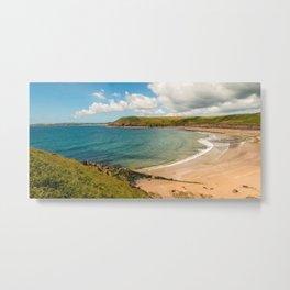 Wales - Manorbier Beach Metal Print