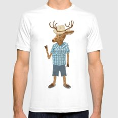 Country deer MEDIUM Mens Fitted Tee White