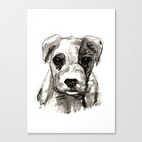 puppy Canvas Prints featuring Puppy  by Cedric S Touati