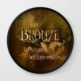 And BRONZE to summon wicked powers. Shadowhunter Children's Rhyme. Wall Clock
