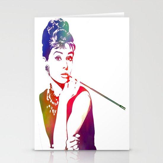 Audrey Hepburn Breakfast at Tiffany's Stationery Cards