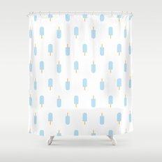 Blue Popsicles Shower Curtain