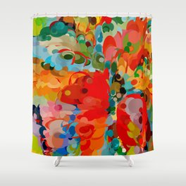 color bubble storm Shower Curtain