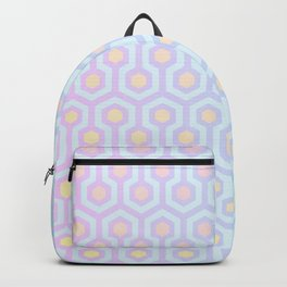 Magical Unicorn Oil Spill Pastel Coloured Geometric Pattern Backpack