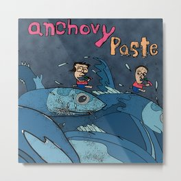 Running with the Anchovies! (Anchovy Paste) Metal Print