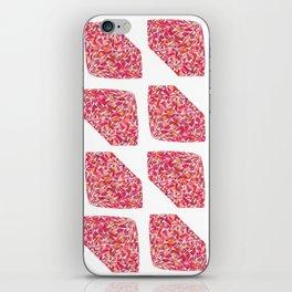 Pink Diamond Pattern iPhone Skin