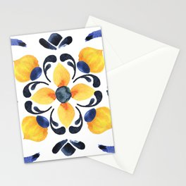 Floral ornament. Watercolor Stationery Cards