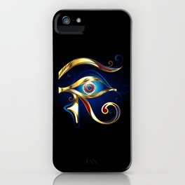 Gold Eye of Horus iPhone Case