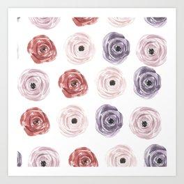 Flower Pattern Vintage Art Print