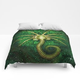 Facehugger (green) Comforters