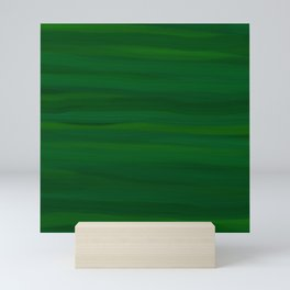 Emerald Green Stripes Abstract Mini Art Print