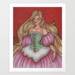 Rapunzel Gown Art Print