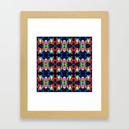 Colorful  Bright Seamless Flower Pattern Framed Art Print