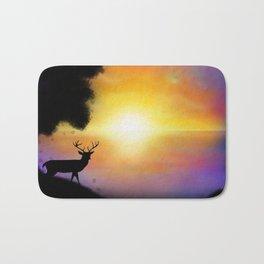 Sunset Reindeer Bath Mat