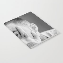 Mac Miller Black And White Portrait Notebook