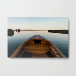 Summer Mornings On The Lake Metal Print