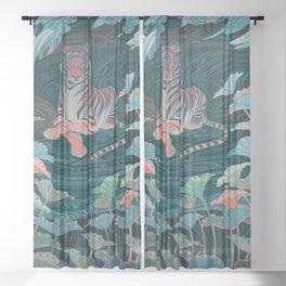 Endangered Tiger Sheer Curtain