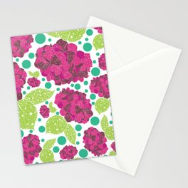 Happiness is hydrangeas Stationery Cards