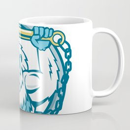Yeti Lifting J Hook Circle Retro Coffee Mug