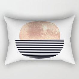 Rose Gold Sun - Scandinavian Art Rectangular Pillow
