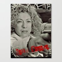 river song Canvas Prints featuring River Song; Hello Sweetie. by Art Corner