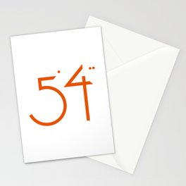 numbers .. five foot four Stationery Cards