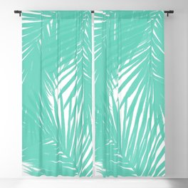 Palms Seafoam Blackout Curtain
