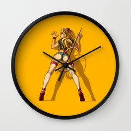 Clementine on the Wall Wall Clock
