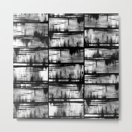 How Many Gray Lines (1) Metal Print