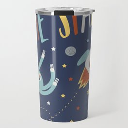 Space Sloth Reach the Stars Travel Mug