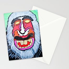 macaques monkey Stationery Cards