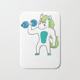 Unicorn Bicep Curls Weight Training Lifting Bath Mat