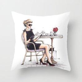 Le Petit Dejeuner Throw Pillow