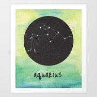 aquarius Art Prints featuring Aquarius by snaticky
