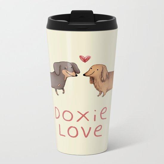 Doxie Love Metal Travel Mug