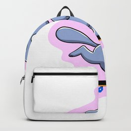 Purple skater cat cartoon Backpack