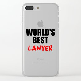 worlds best lawyer Clear iPhone Case
