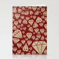 diamond Stationery Cards featuring diamond by Landon Sheely