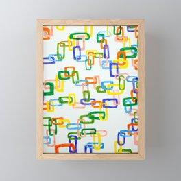 Chain Links Framed Mini Art Print