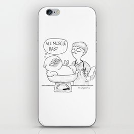 all muscle baby... iPhone Skin